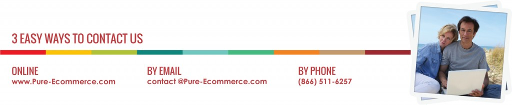 Contact Pure-Ecommerce - 3 ways