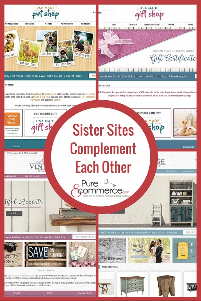 Pure-Ecommerce Sister Sites Complement Each Other