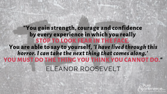 stop to look fear in the face - eleanor roosevelt quote