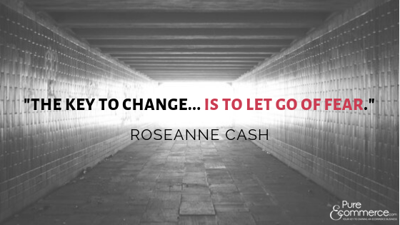 let go of fear - roseanne cash quote