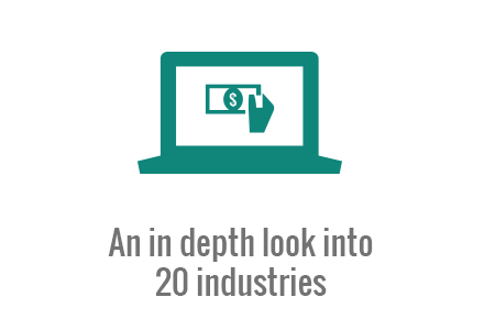 An in depth look into 20 online industries