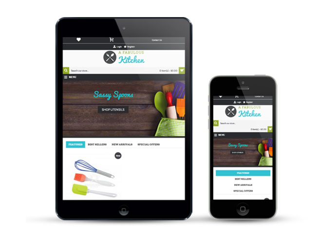 Our cart is responsive and mobile ready for your ecommerce business