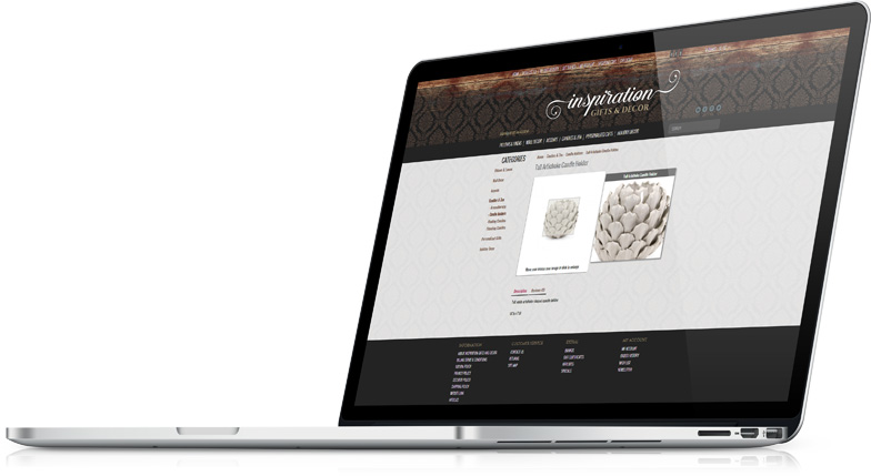 Pure-Ecommerce Custom Website Design on laptop